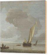 A Small Dutch Vessel Before A Light Breeze Wood Print