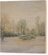 A Snowy Morn At Dalhebity Wood Print