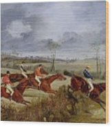 A Steeplechase - Near The Finish Henry Thomas Alken Wood Print