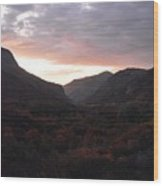 A Sunset View Through A Valley In The Southwest Foothills Of The Sierra Nevadas Wood Print
