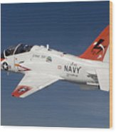 A T-45c Goshawk Training Aircraft Wood Print