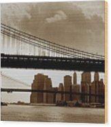 A Tale Of Two Bridges Wood Print by Joann Vitali