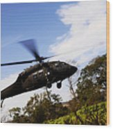 A U.s. Army Uh-60 Black Hawk Helicopter Wood Print