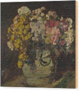 A Vase Of Wild Flowers Wood Print
