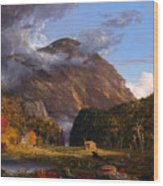 A View Of The Mountain Pass Called The Notch Of The White Mountains Wood Print