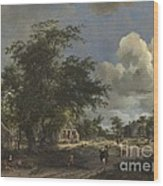 A View On A High Road Wood Print