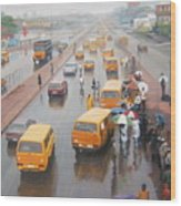 A Wet Day In Lagos Wood Print