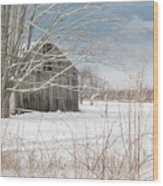 A Winters Day Wood Print