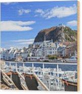 Aalesund City Wood Print
