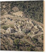 Abandoned Village Of Occi And The Coast Of Corsica Wood Print