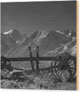 Abandoned Wagon In The High Sierra Nevada Mountains Wood Print