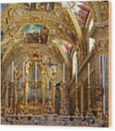 Abbey Of Montecassino Altar Wood Print