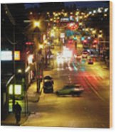 Abbotsford Lights 05 Wood Print