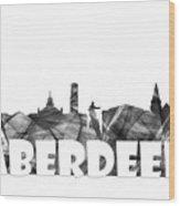 Aberdeen Scotland Skyline Wood Print