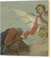 Abraham And The Three Angels Wood Print