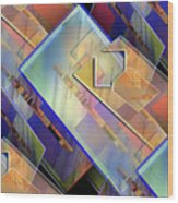 Abstract  145 Wood Print