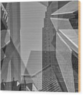 Abstract Architecture - Toronto Financial District Wood Print