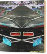 Abstract Black Car Wood Print