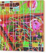Abstract Colorful Wood Print