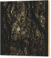 Abstract Gold And Black Texture Wood Print