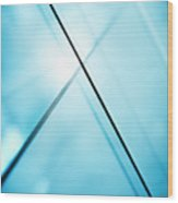 Abstract Intersecting Lines On A Glass Surface Wood Print