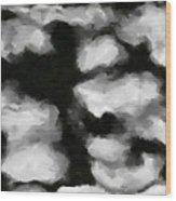 Abstract Monochome 159 Wood Print