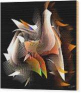 Abstract Peacock Wood Print