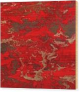 Lava Lust Abstract  Wood Print