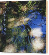 Abstract Water Blues Wood Print
