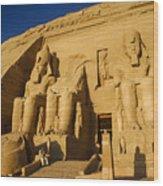 Abu Simbel Wood Print