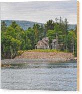Coastal Acadia Wood Print
