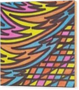 Aceo Abstract Design Wood Print