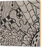 Aceo Zentangle Abstract Design Wood Print