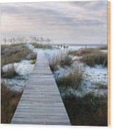 Across The Dunes Wood Print by Julie Dant