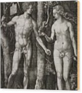Adam And Eve 1504  Wood Print