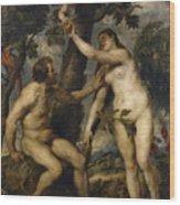 Adam And Eve Wood Print