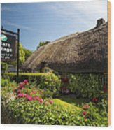 Adare Thatch Roof Cottages Ireland Wood Print