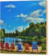 Adirondack Calm Wood Print