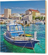 Adriatic Town Of Razanac Colorful Waterfront Wood Print