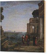Aeneas Farewell To Dido In Carthago  Wood Print