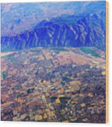 Aerial Usa. Los Angeles, California Wood Print