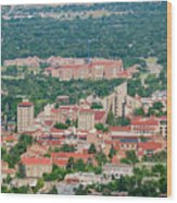 Aerial View Of The Beautiful University Of Colorado Boulder Wood Print