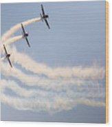 Aerobatic Group Formation  Wood Print