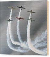 Aerostars Yak-50 Team Wood Print