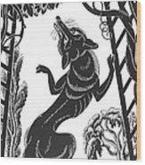 Aesop: Fox & Grapes Wood Print