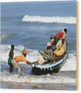 African Fishermen 1971 Wood Print