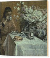 Afternoon Tea Wood Print by Isidor Verheyden