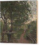 Aftonpromenad Wood Print