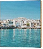 Agios Nikolaos Panorama Wood Print