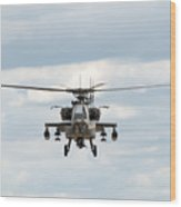 Ah-64 Apache Wood Print